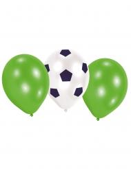 6 Globos de látex fútbol 70 cm