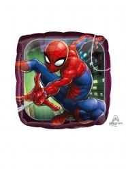 Globo pequeño cuadrado aluminio Spiderman™ 23 cm