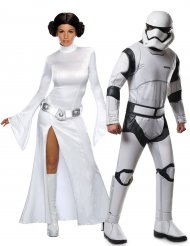 Disfraz pareja princesa Leia y Stormtrooper - Star Wars™
