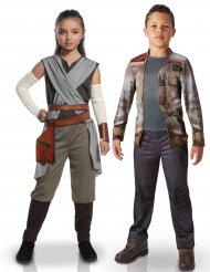 Disfraz de pareja lujo Rey y Finn niños Star Wars™