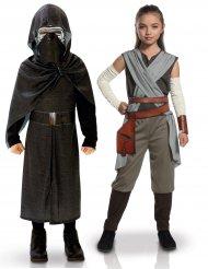 Disfraz de pareja Kylo Ren y Rey infantil - Star Wars™