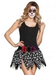 Falda esqueletos mexicanos adulto Día de los muertos