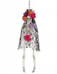 Esqueleto viuda mejicana Día de los muertos 40 cm