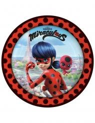 8 Platos de cartón Ladybug™ 23 cm