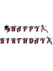 Guirlanda de cartón Happy Birthday Ladybug™ 15 cm x 2 m