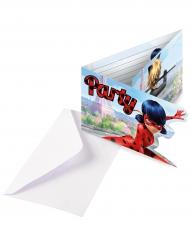 6 Tarjetas de invitación con sobres Ladybug™ party