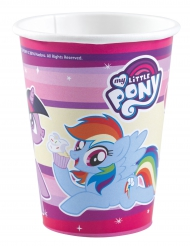8 Vasos de cartón My Little Pony™ 250 ml