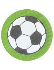 8 Platos de cartón fútbol 23 cm