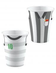 8 Vasos de cartón fútbol 250 ml