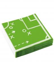 20 Servilletas de papel fútbol