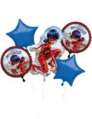 Ramo de 5 globos aluminio Ladybug™