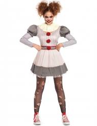 Disfraz creepy clown mujer