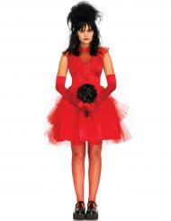 Disfraz novia gótica sexy rojo mujer