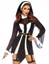 Disfraz religioso sexy con cofia mujer