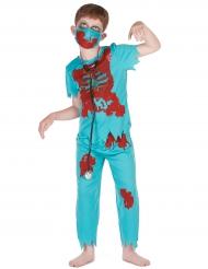 Disfraz doctor zombie niño