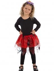 Tutu rojo arañas negras niña