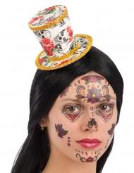 Mini sombrero de copa Día de los muertos