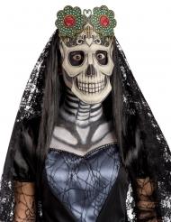 Máscara de tela Día de los muertos adulto