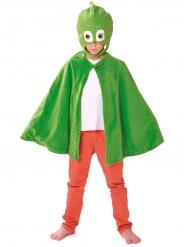 Capa y máscara Gekko Pj Masks™ niño