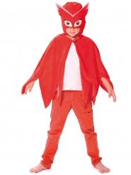 Capa y máscara Buhita Pj Masks™ niño