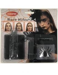 Kit maquillaje viuda negra araña