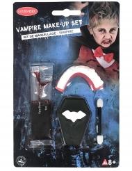 Mini kit maquillaje vampiro dentadura y sangre falsa