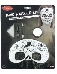 Kit de maquillaje y máscara esqueleto