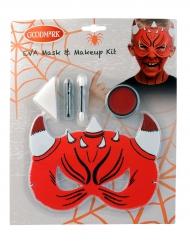 Kit maquillaje y máscara diablo
