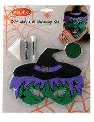 Kit maquillaje y máscara bruja