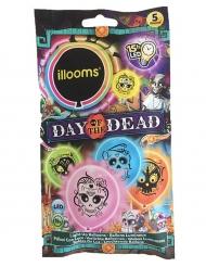 5 Globos LED illooms™ de colores Día de los muertos
