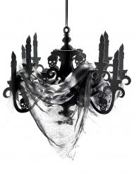Candelabro negro cartón casa encantada 41x58 cm
