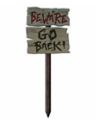 """Letreto """"Beware go back"""" 54 x 20 cm"""
