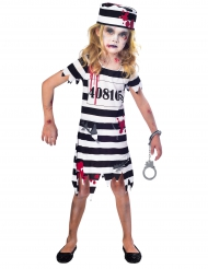 Disfraz prisionera zombie niña