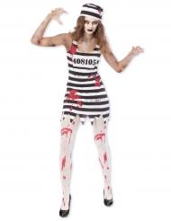 Disfraz prisionero zombi mujer