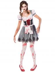 Disfraz Oktoberfest zombie mujer