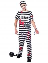 Disfraz prisionero zombi hombre