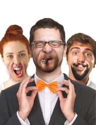 10 Bocas falsas de cartón sonrisas humorísticas