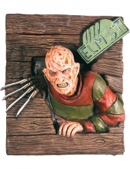 Decoración mural con relieve freddy Krueger™ 61 x 74 cm