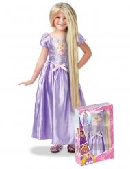 Cofre Princesa Rapunzel™ con lentejuelas y peluca niña