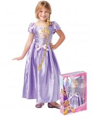 Disfraz princesa Rapunzel™ con lentejuelas y trenza niña