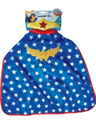 Capa y Tiara Wonder Woman Super Hero Girls™ niña