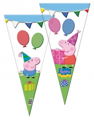 6 Bolsas de fiesta Peppa Pig™ 30 x 60 cm