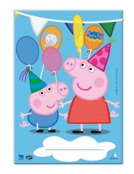10 Bolsas de regalo Peppa Pig™ 17 x 25 cm