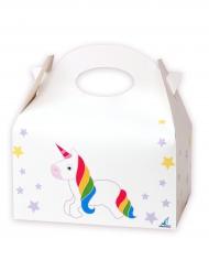 12 Cajas de cartón unicornio blancas 16 x 10.5 x 16 cm