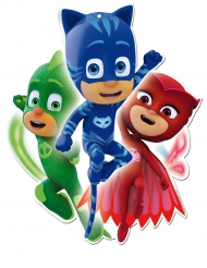 2 Decoraciones murales cartón PJ Masks™