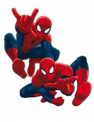 2 Decoraciones murales de cartón Spiderman™ 30 cm