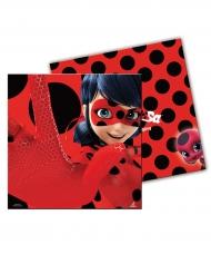 20 Servilletas de papel Ladybug™ rojos con lunares 33 x 33 cm