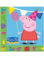 20 Servilletas de papel Peppa Pig™ fiesta 33 x 33 cm