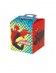 4 Cajas de cartón cuadradas Spiderman™ 9.5 x 9.5 x 11 cm
