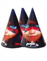 6 Gorros de fiesta Ladybug™ 16 x 11 cm